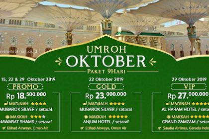 Paket Umroh Oktober 2019 Biaya Murah Promo 18 Juta All in