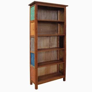 Libreria Estanteria 5 Estantes Thrissur , mueble estantes rustico, mueble libreria rustica