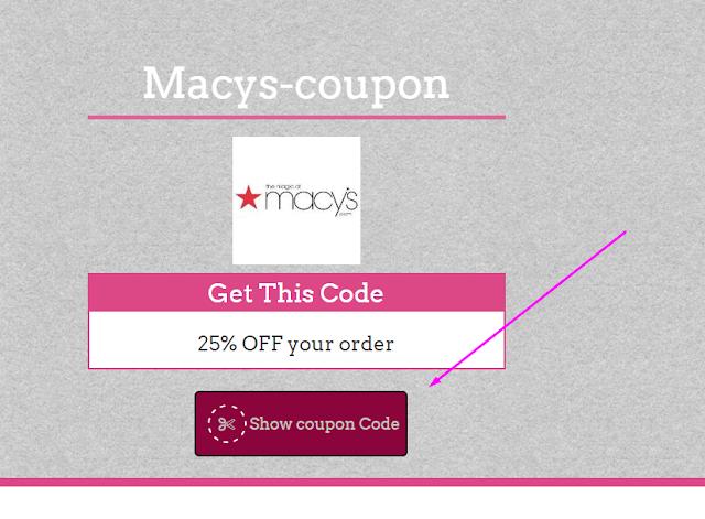 Macys 35% Coupon Code May 2017