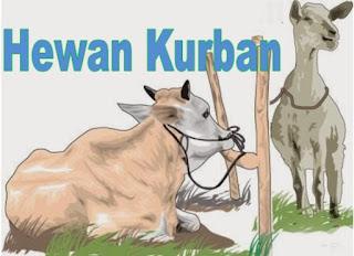 Idul Adha dengan menyembelih hewan kurban