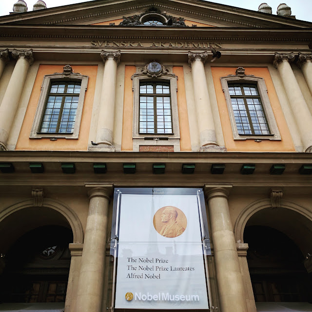 Facade of the Nobel Museum in Stockholm