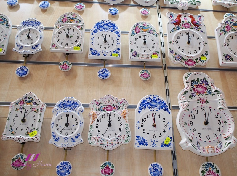 eu holidays budapest great market hall porcelain clocks