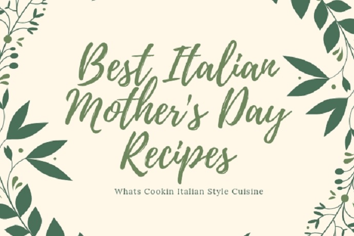 mothers day label and recipes