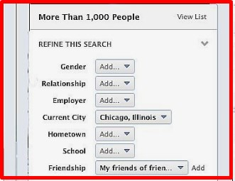 how to do advanced search on facebook