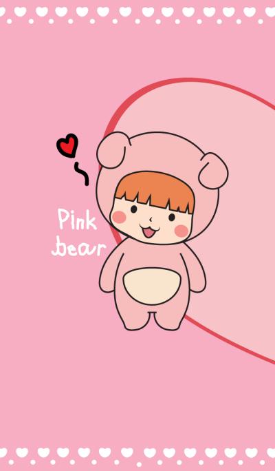 ธีมหนูน้อย : ชุดหมีชมพู