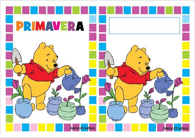 Cartazes Ilustrados Estações do Ano Ursinho Pooh