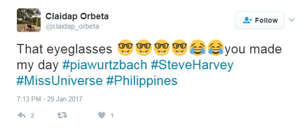 Pia Wurtzbach Does This Funny Thing Before Steve Harvey Presents The 65th Miss Universe Winner!