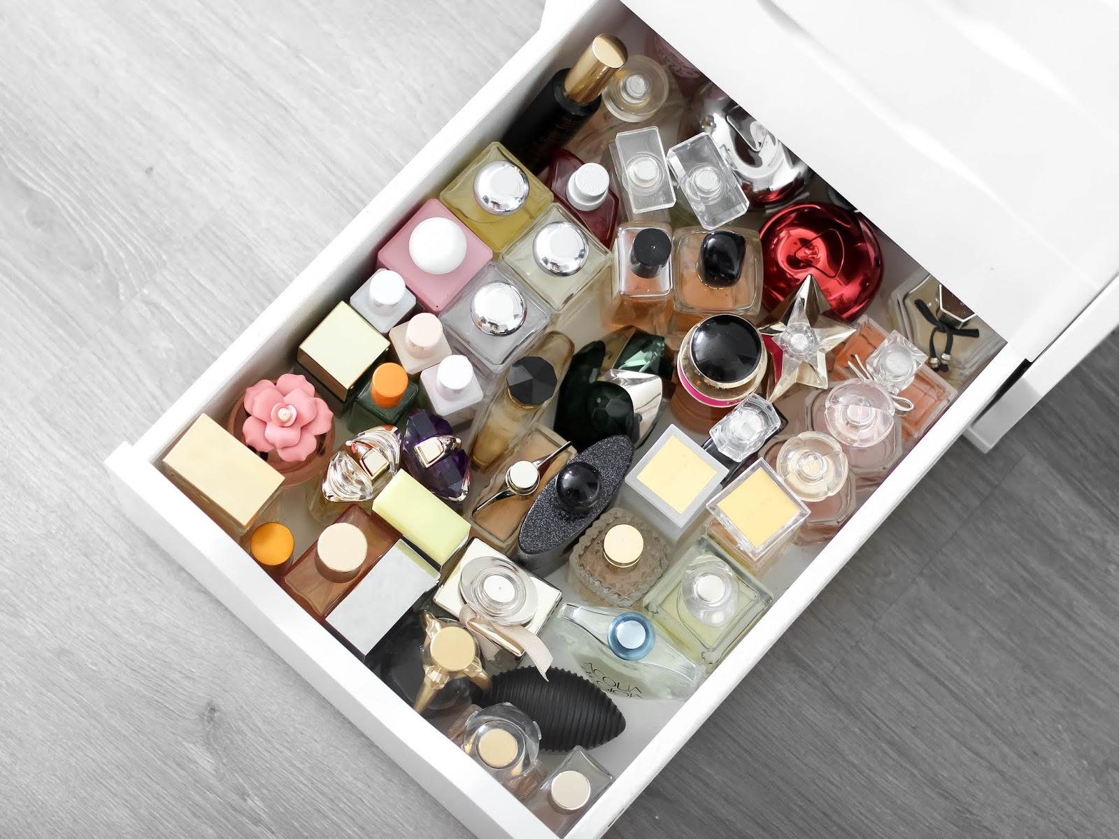 sbírka parfémů, vůní