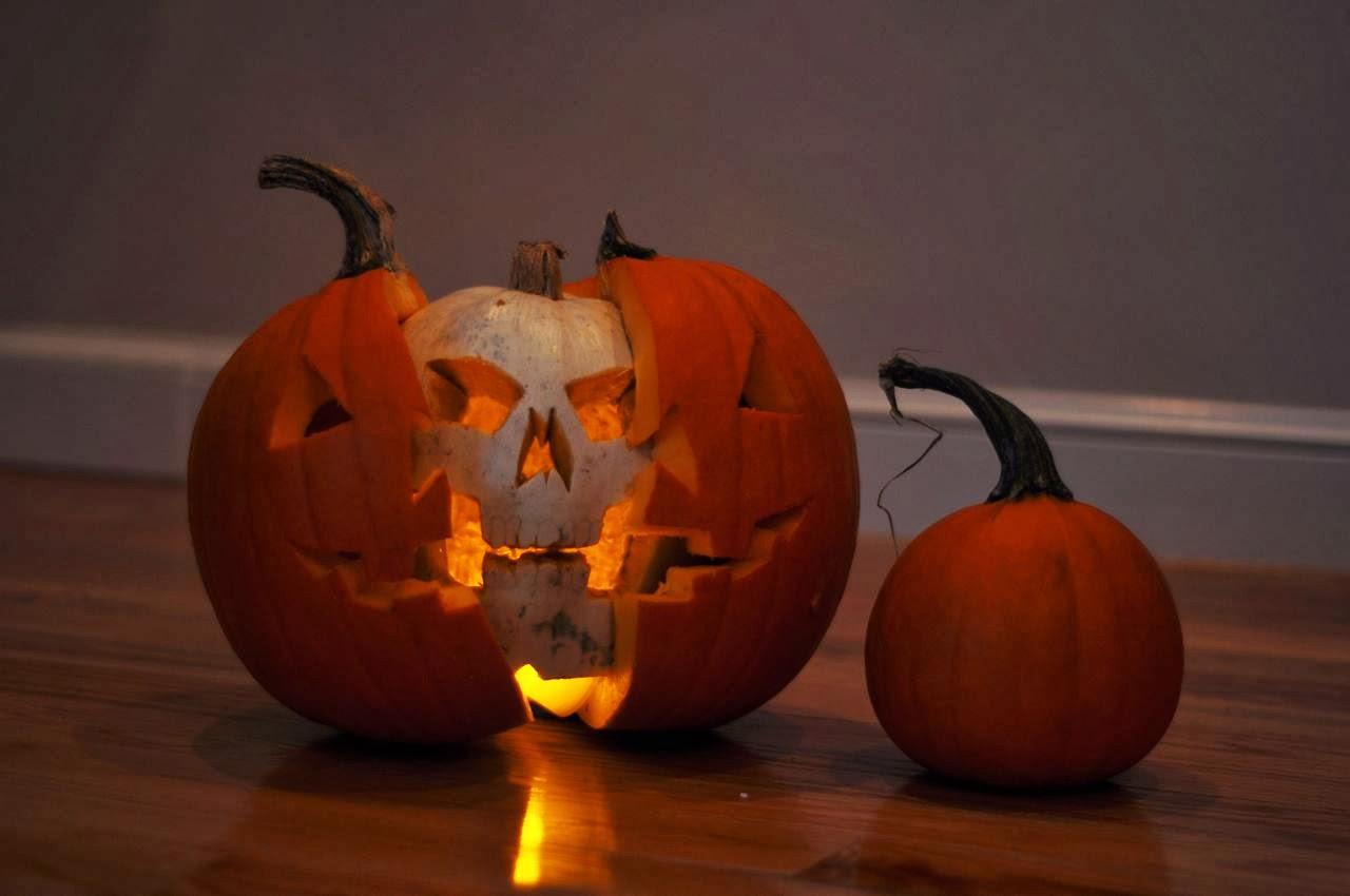 Pumpkin Skull Or A Pumpkin Inside A Pumpkin