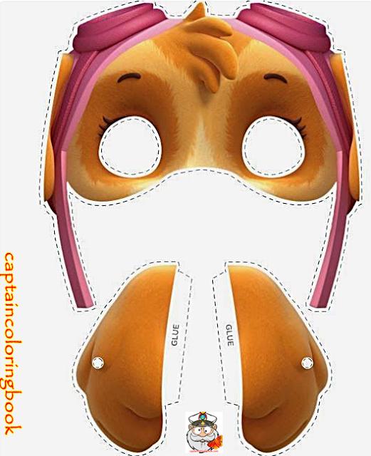 Paw Patrol Coloring Masks