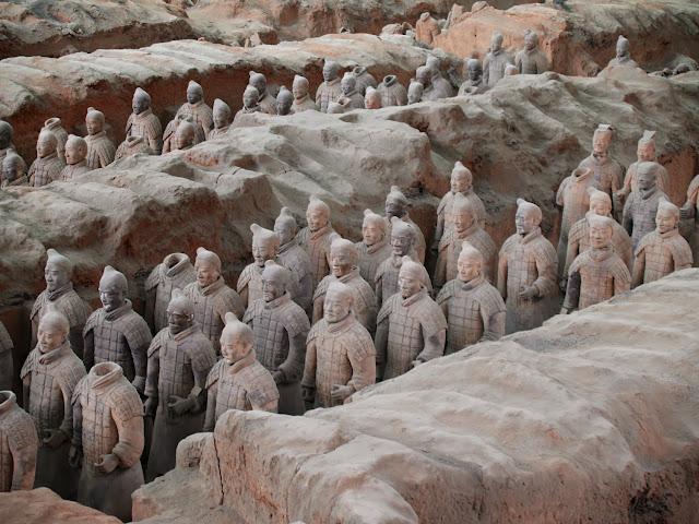 Detalle nave principal guerreros de terracota, Xian