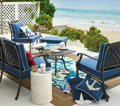 Beach Blue Rugs For Outdoor Living