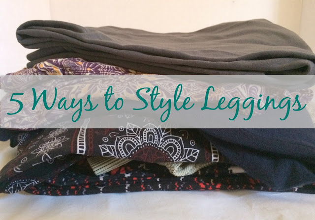Leggings look great with tunics, dresses, over-sized sweatshirts, long button up tops, and more!