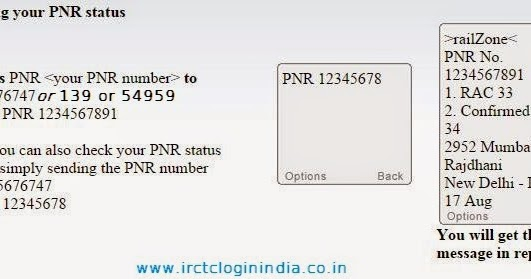 know pnr status through sms
