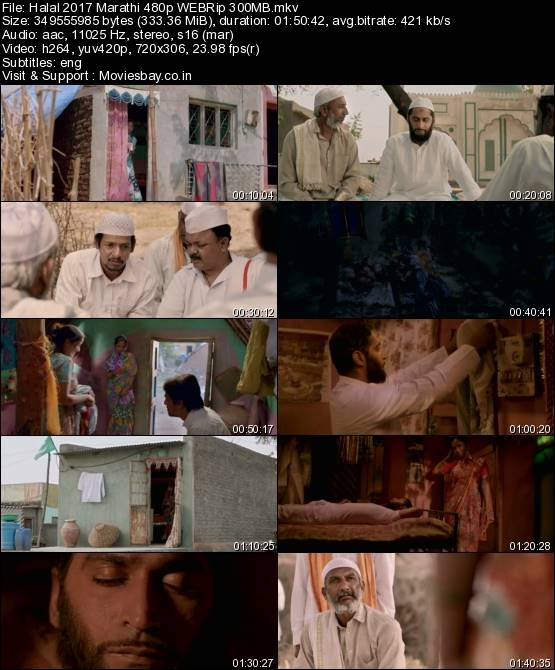 Halal 2017 Marathi 480p WEBRip 300MB