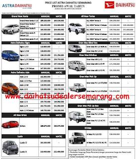Harga Mobil Daihatsu Dealer Astra Semarang April 2019 Daihatsu Semarang