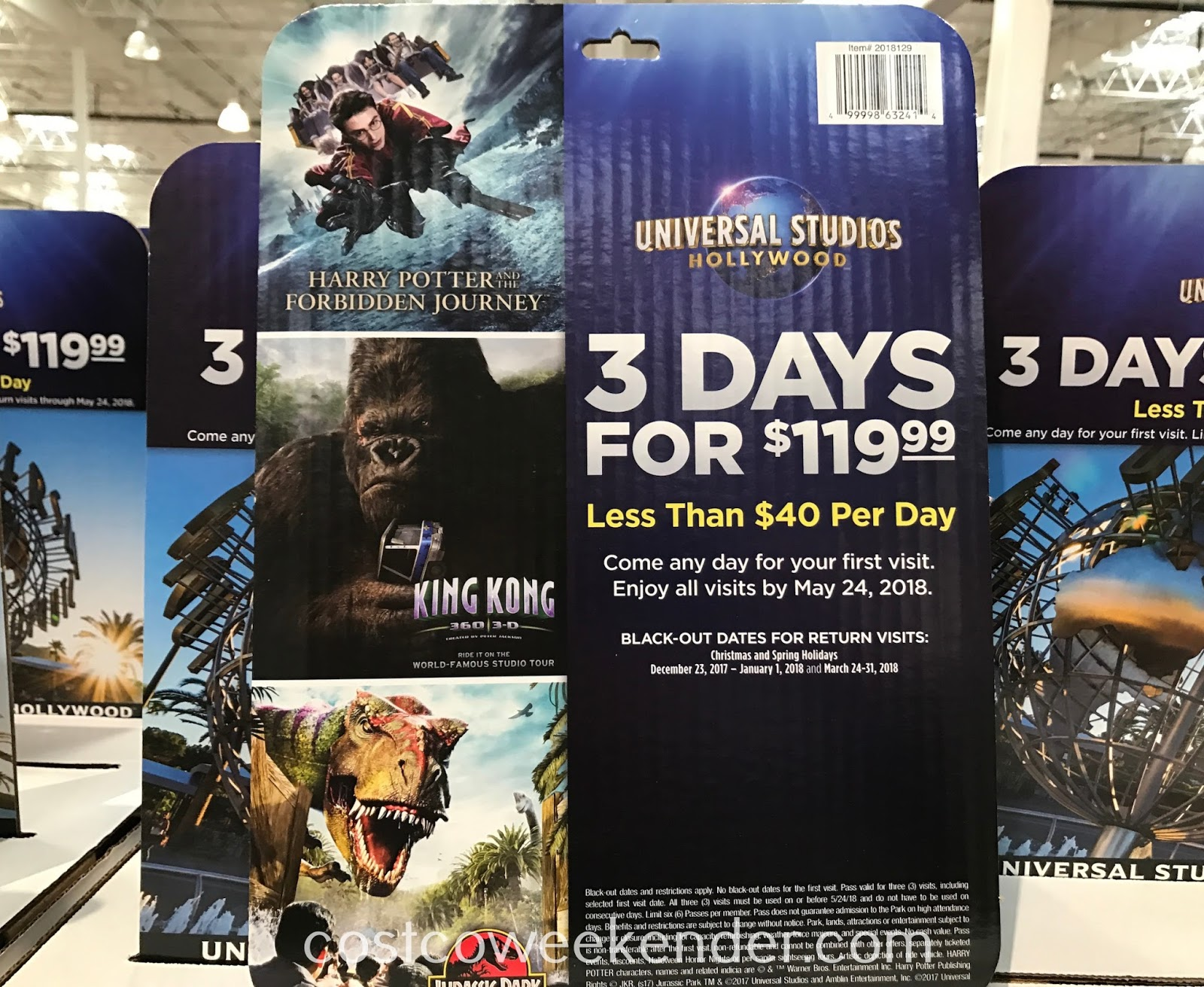 Costco 2018129 - Universal Studios Hollywood 3 Day Ticket: great for the whole family