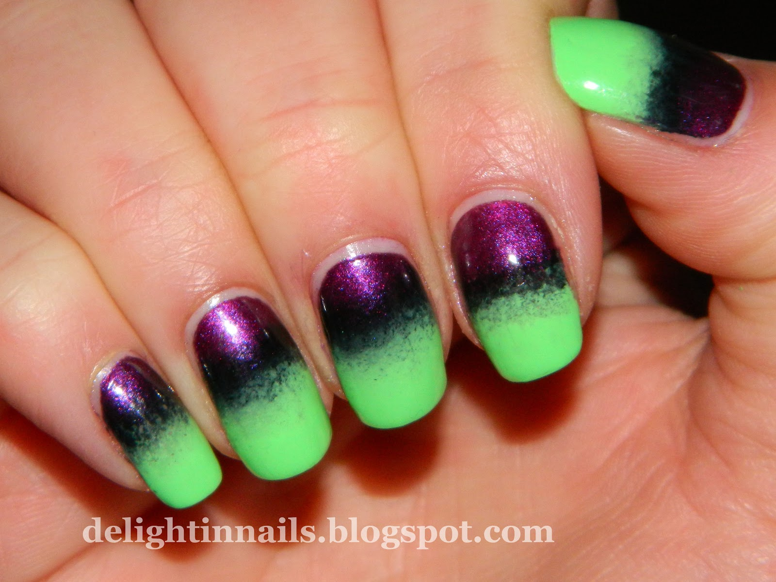 Delight In Nails: Nail-Aween Nail Art Challenge - Matte ...