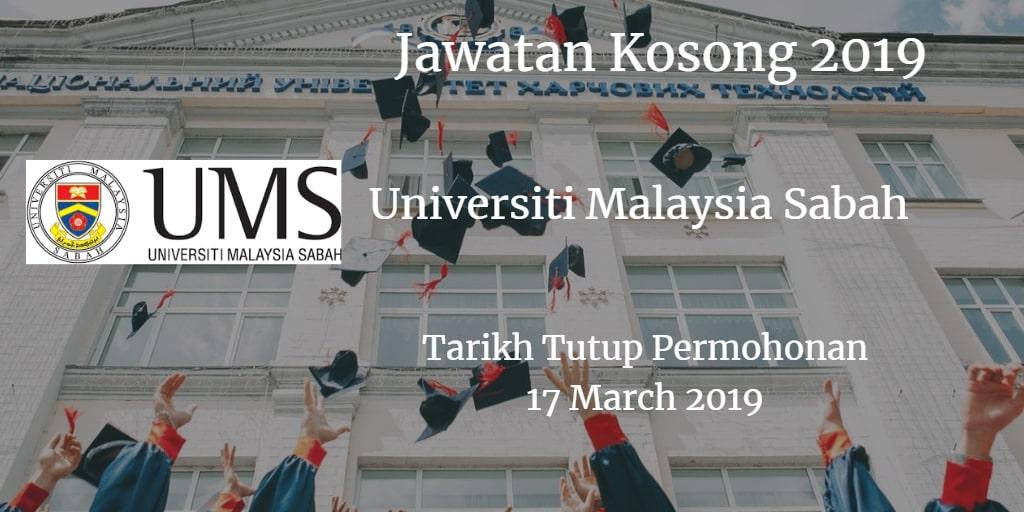 Jawatan Kosong UMS 17 March 2019