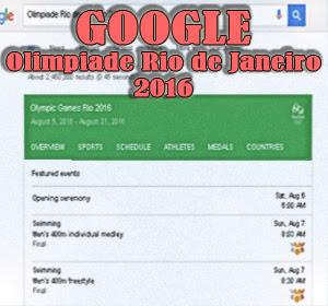Layanan Mesin Pencari Google, Sajikan Hasil Pencarian Lengkap Seputar Olimpiade Rio de Janeiro 2016