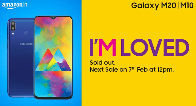 Samsung Galaxy M20, next sale of Galaxy M10, on 7 February, M-series phones were sold in the first series
