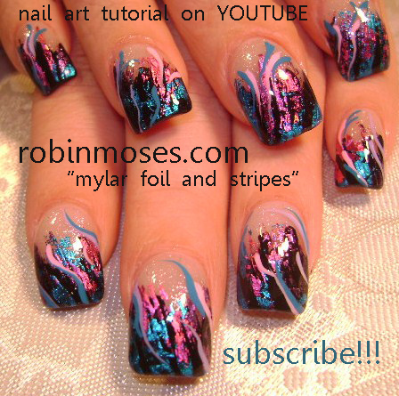 "Robin Moses Nail Art: ""crackle nail polish technique"