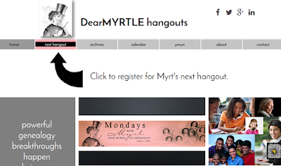 DearMYRTLE's Genealogy Blog: ANNOUNCING: A NEW way to hang out with Myrt