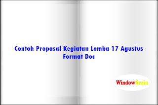 Contoh Proposal Kegiatan Lomba 17 Agustus Format Doc
