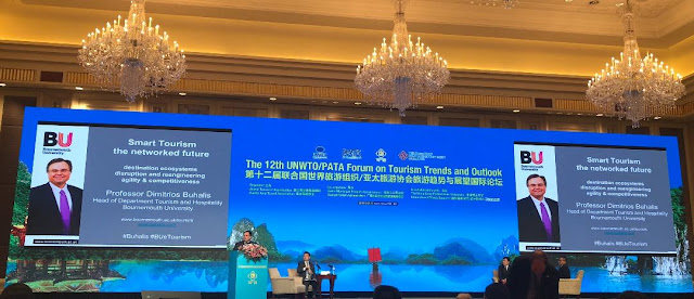 Dimitrios Buhalis Speaking on Smart Tourism at the Guilin UNWTO PATA