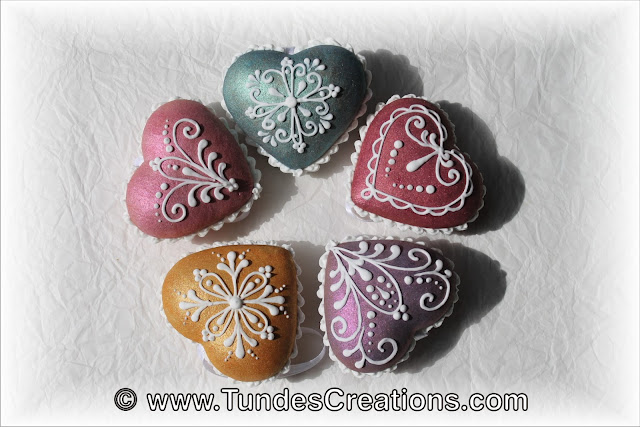 Gingerbread 3D heart Christmas ornaments with TruColor by Tunde Dugantsi