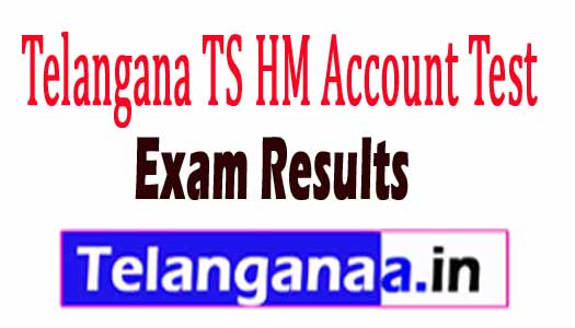 Telangana TS HM Account Test Results 2018