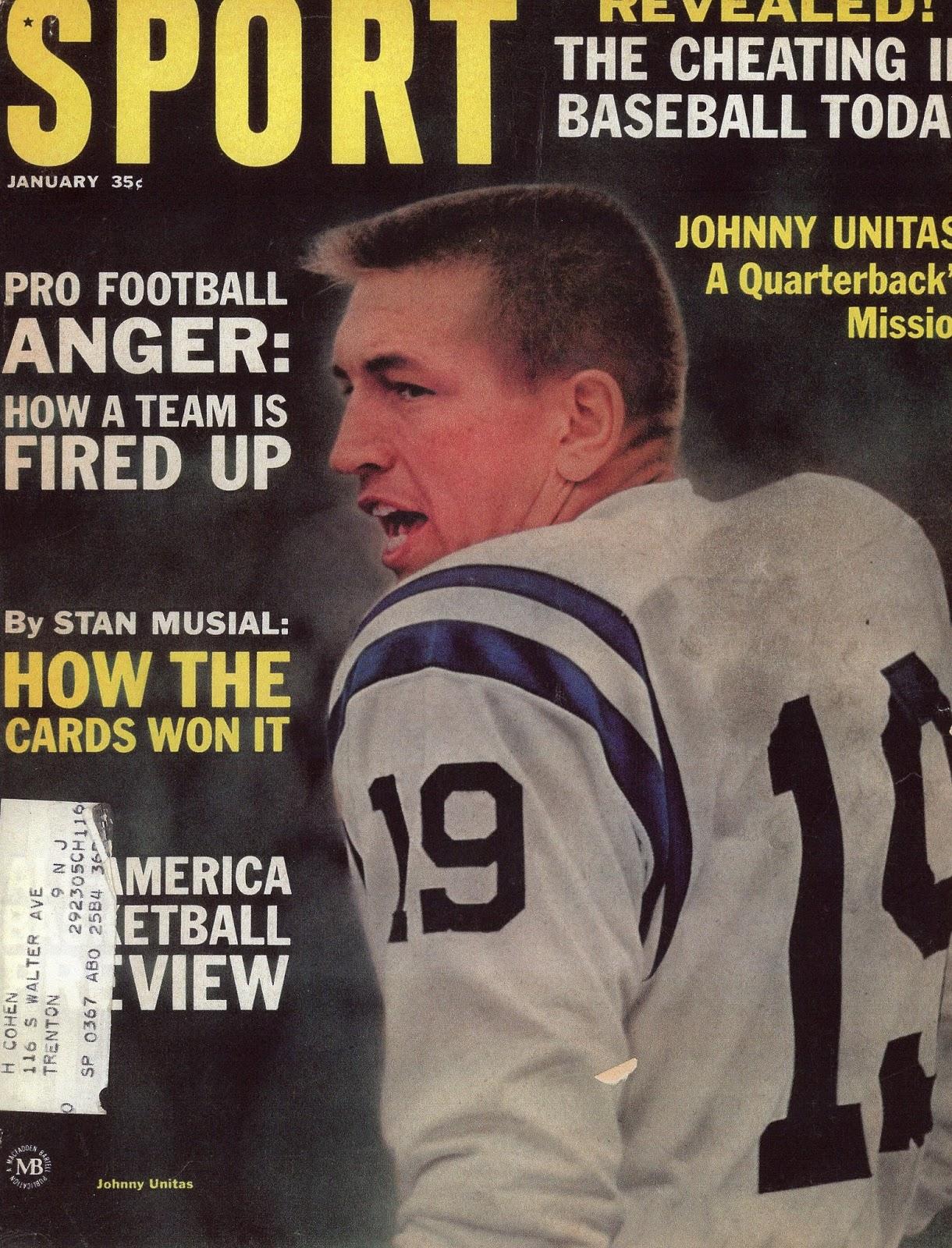 sport magazine 1965 january football pro unitas johnny week journal