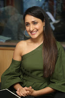 Pragya Jaiswal in a single Sleeves Off Shoulder Green Top Black Leggings promoting JJN Movie at Radio City 10.08.2017 008.JPG