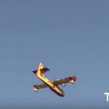 Ελληνικά Καναντέρ στο Ισραήλ πετούν ανάμεσα σε πολυκατοικίες για να σβήσουν φωτιές [video]