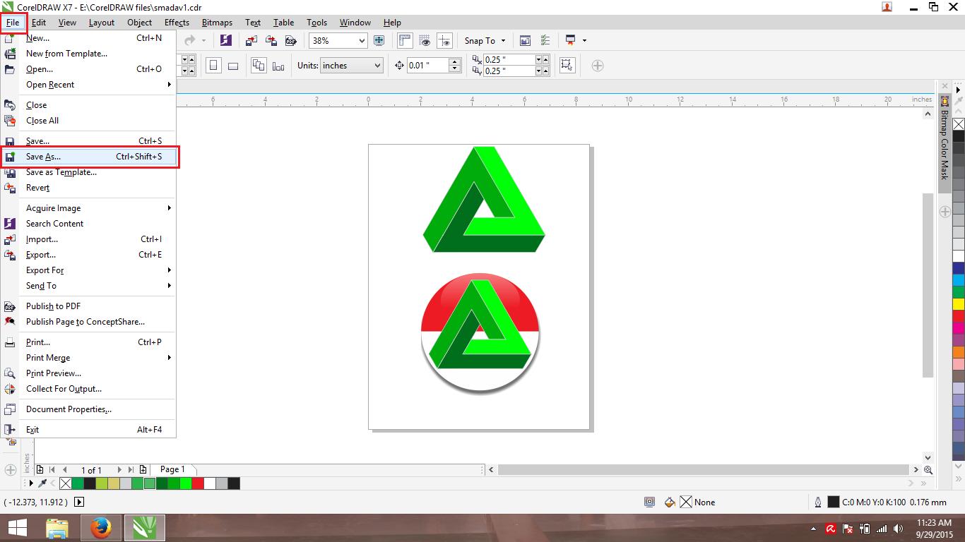 Cara Menyimpan Save As File Coreldraw X7 Ke Versi Corel Draw Graphics 2018 Full Version  Terlaris Disini Saya Mempunyai Logo Smadav Yang Posting Pada Postingan Sebelumnya Untuk Di Bawahnya Caranya