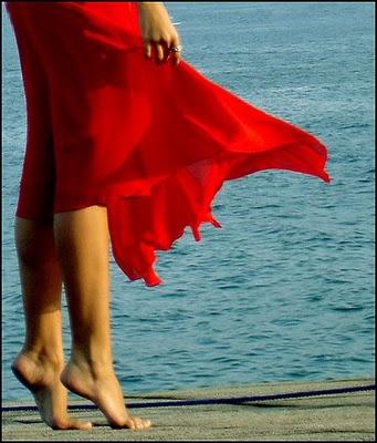 Mulheres de vermelho!
