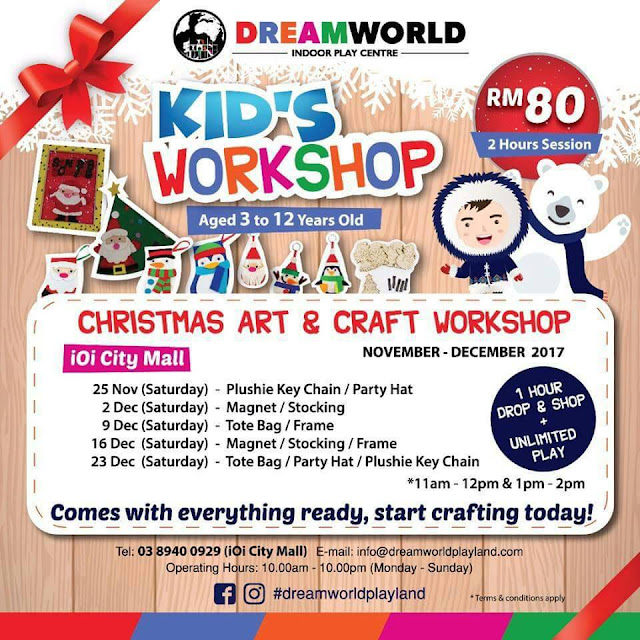 CUNGKIL BAKAT TERPENDAM ANAK-ANAK DI DREAMWORLD PLAYLAND, kids workshop, plushie key chain & party hat