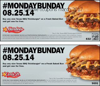 Hardees coupons march 2017