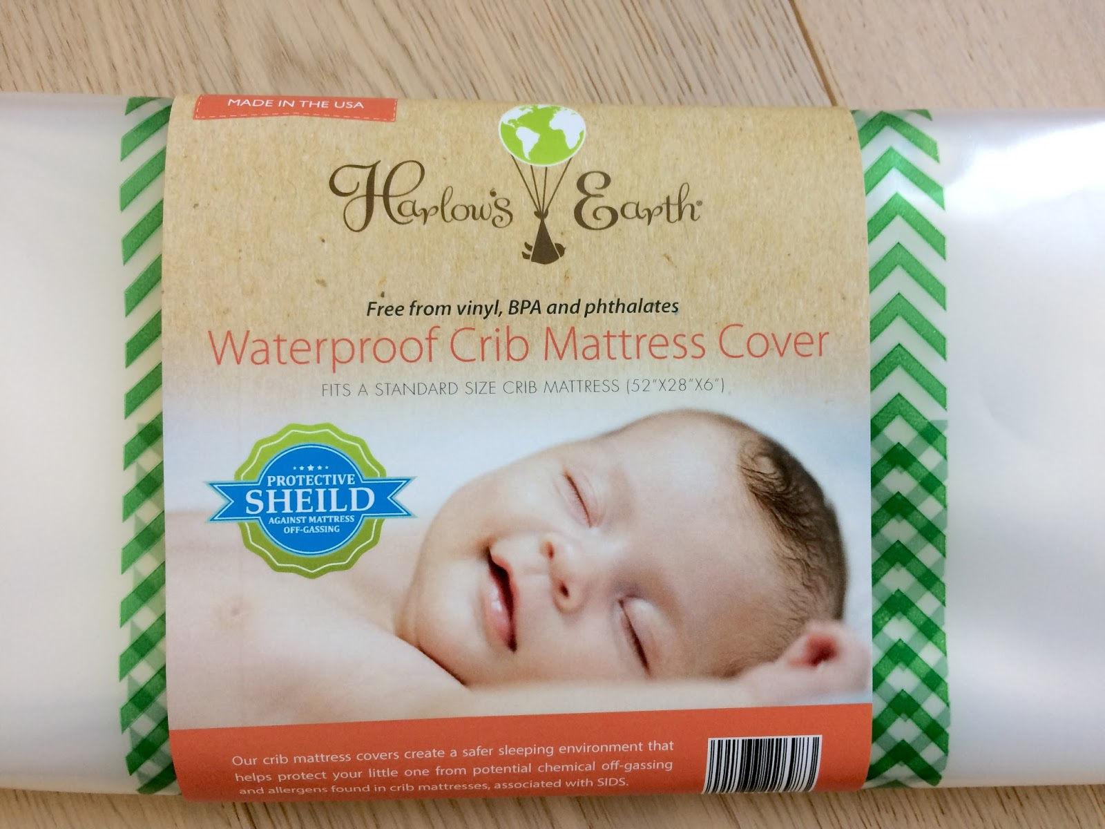 harlow's earth waterproof crib mattress cover ~ all things