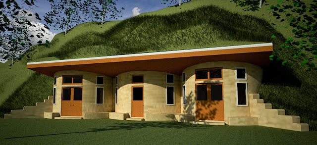 Beautiful earth homes and monolithic dome house designs for Berm home designs