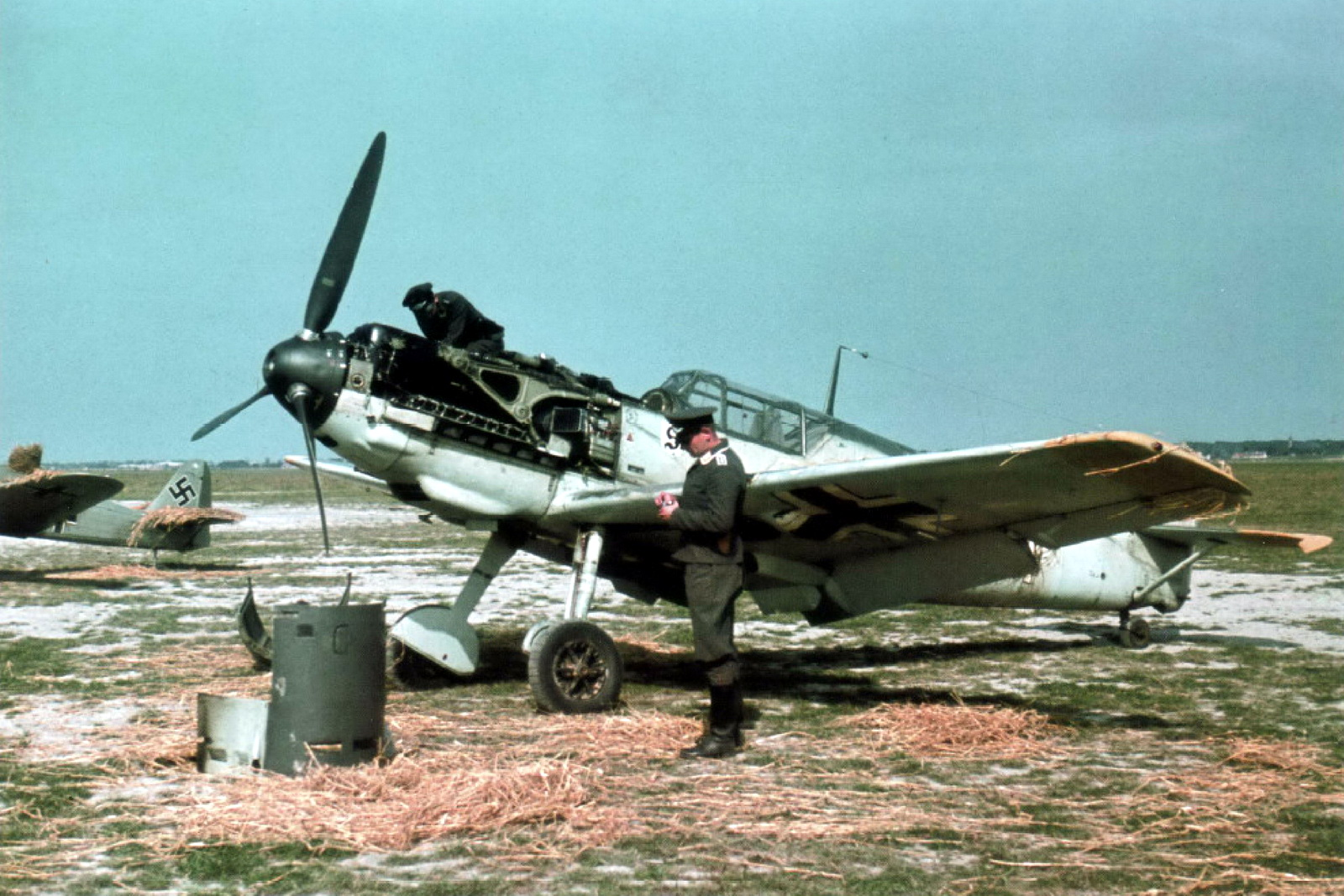 World War II in Color: Messerschmitt Bf 109 Flown by Leutnant Walter Blume
