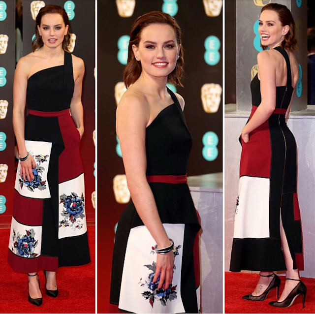 Daisy Ridley In Roland Mourent at BAFTA