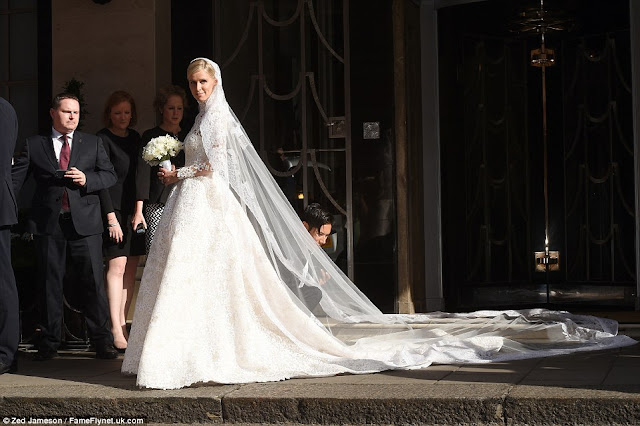 Nicky Hilton's gown is £50,000 Valentino Couture