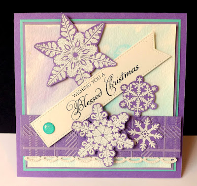 Our Daily Bread Designs - Sparkling Snowflakes, Blessed Christmas, Beautiful Border dies, DJ Rants