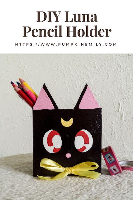 DIY Luna Pencil Holder | Easy & Cute Sailor Moon DIY