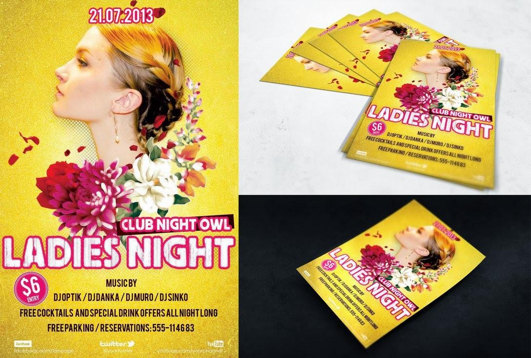 Flyer Ladies Night Template