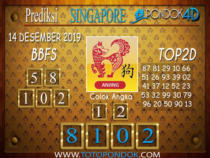 Prediksi Togel SINGAPORE PONDOK4D 14 DESEMBER 2019