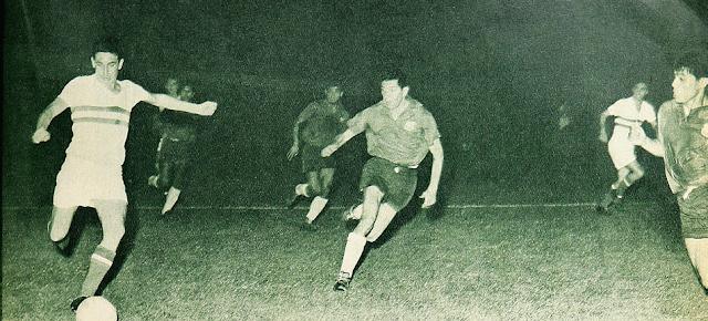 Chile y Hungría en partido amistoso, 13 de diciembre de 1961