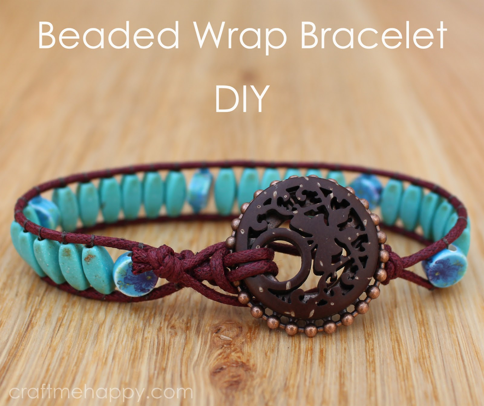 Wrap Bracelet Tutorial Using Blueberry Cove Beads Craft Me Happy