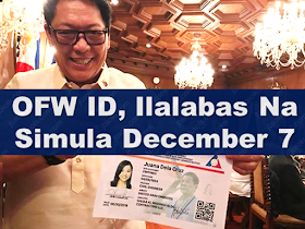 Good News To OFWs! The much awaited iDOLE or OFW ID will be released very soon. According to the social media post of PCOO ASec Mocha Uson, the OFW ID fianal lay-out has been presented during the cabinet meeting and is ready to be distributed on December 7.  Sponsored Links The OFW ID will serve as an OEC for OFWs, meaning, OFWs who will be given the iDOLE card no longer need to secure OECs. It is also designed allowing its bearer to transact with government and private agencies, such as Pag-IBIG, SSS, and PhilHealth, it can also serve as a debit card and an ATM card for the OFW Bank, as well as a beep card if the bearer use LRT and MRT.  Department of Labor and Employment (DOLE) Secretary Silvestre Bello III recently announced that OFWs who will be home for the holiday season will be the first to receive their OFW IDs, but there was no definite date as to the release of the card. Concerned agencies even admitted that interlinking the databases for the iDOLE is a complicated task. ASec Mocha Uson also mentioned in her social media post that further details regarding the OFW ID will be released these following days. Advertisement Read More:       ©2017 THOUGHTSKOTO